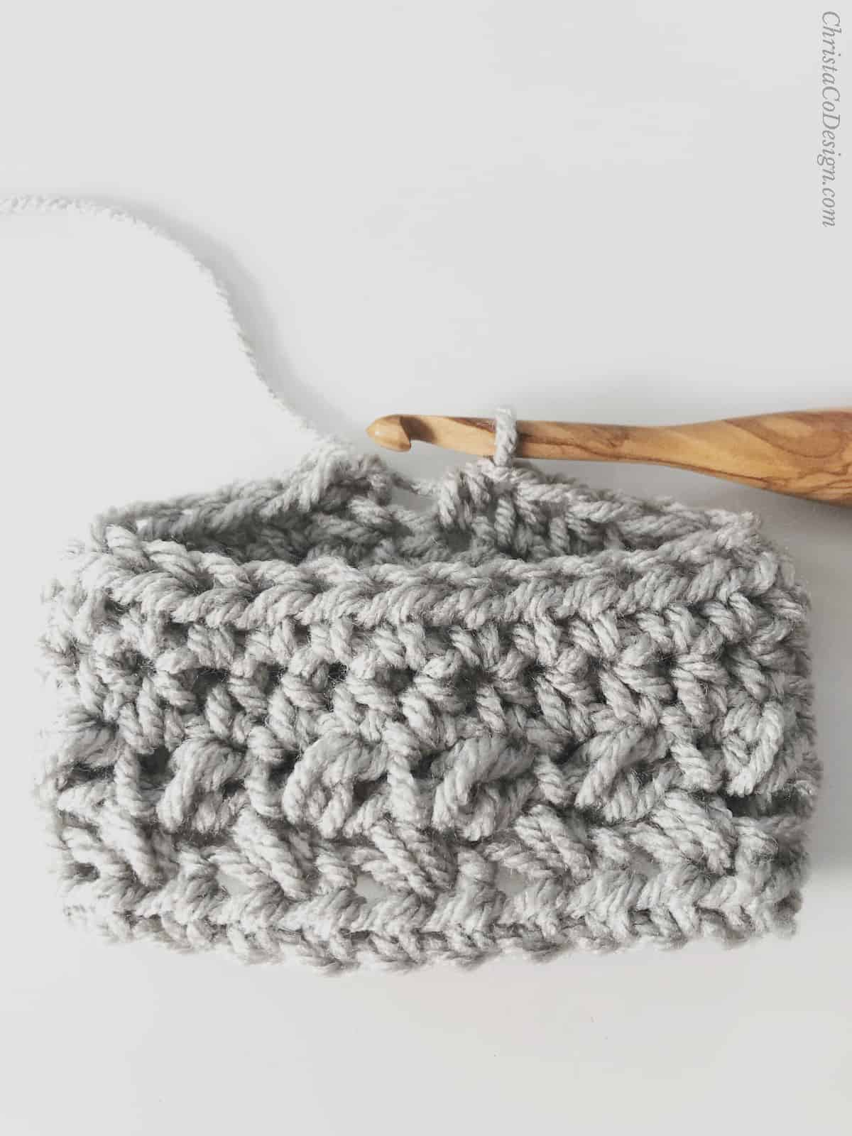 picture of travel cup cozy in grey step 7