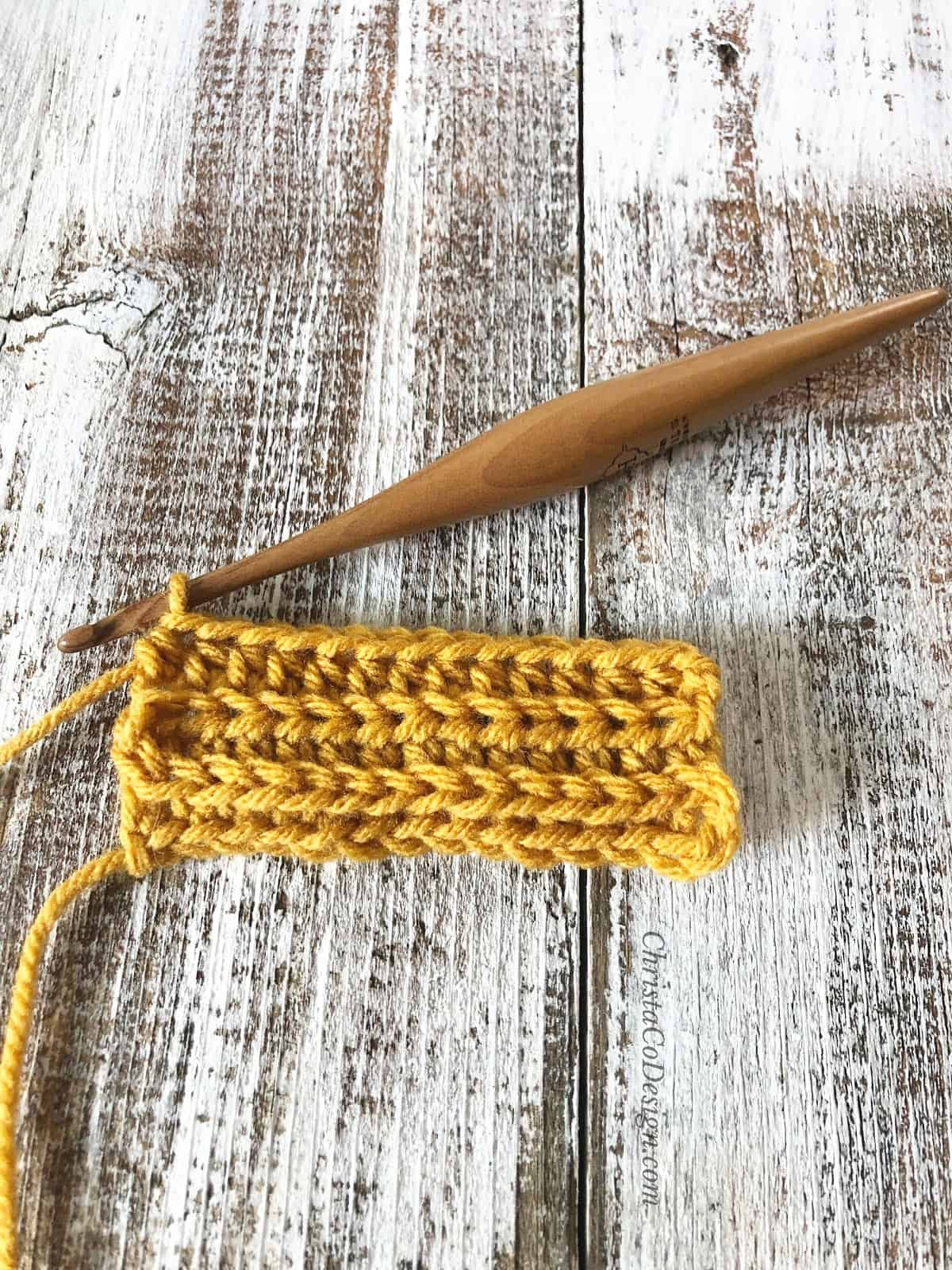 picture of ribbed crochet stitches