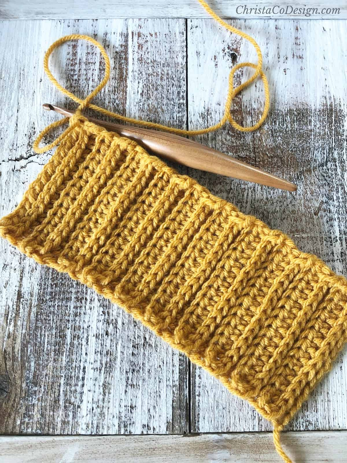 picture of crochet ribbed fabric for crochet pumpkin