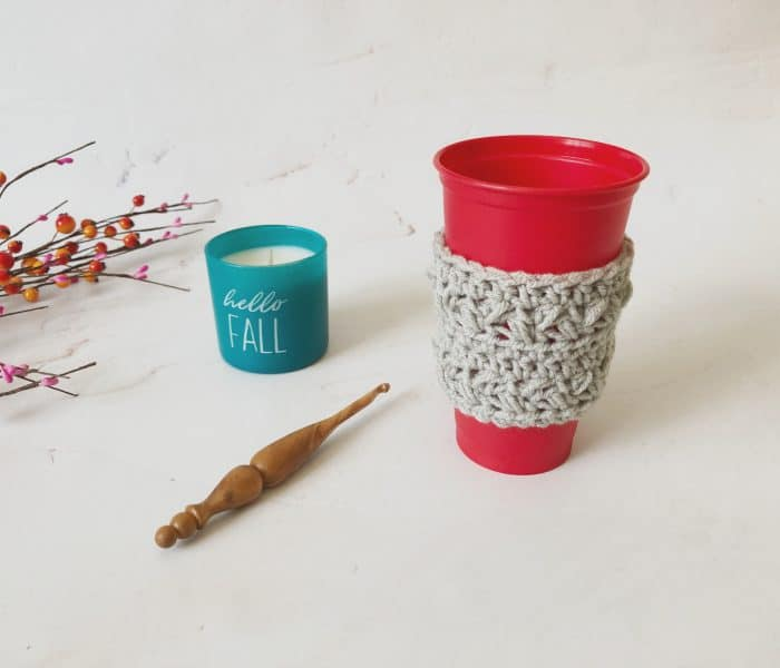 How to Crochet a Travel Cup Cozy Free Pattern