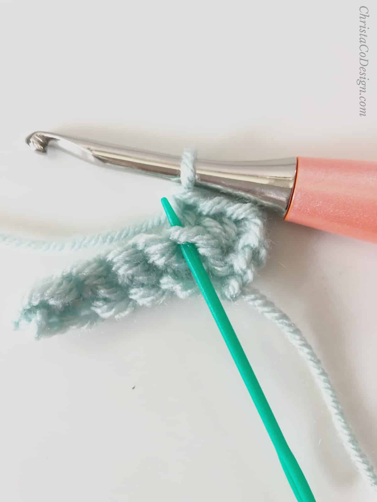 picture of front loop for ribbing