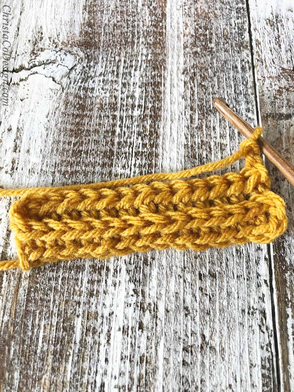 picture of crochet ribbing