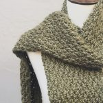 picture of crochet textured scarf pin image with text free pattern