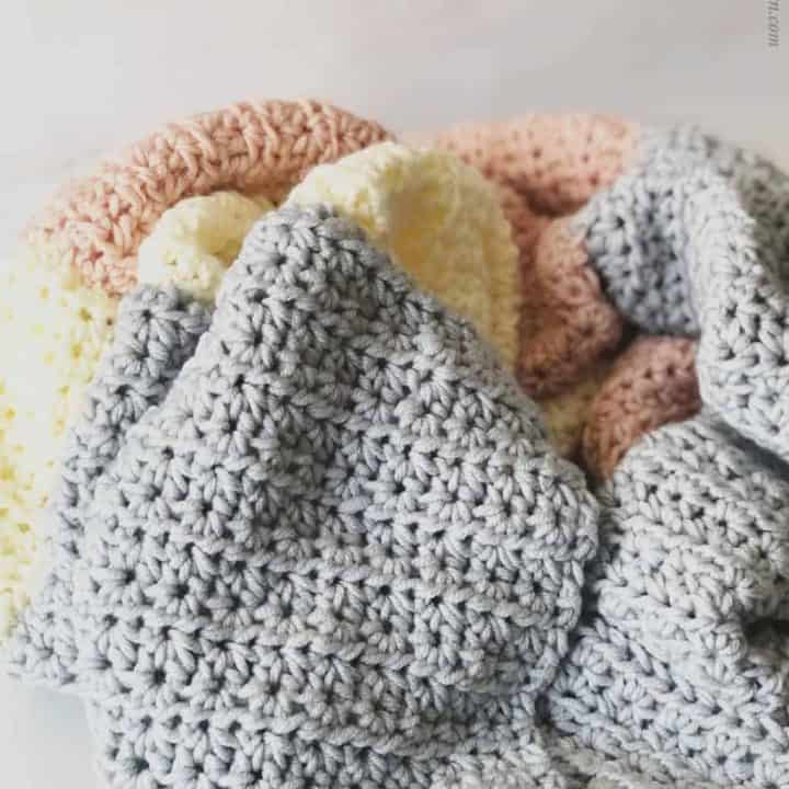 picture of chunky crochet blanket pattern free