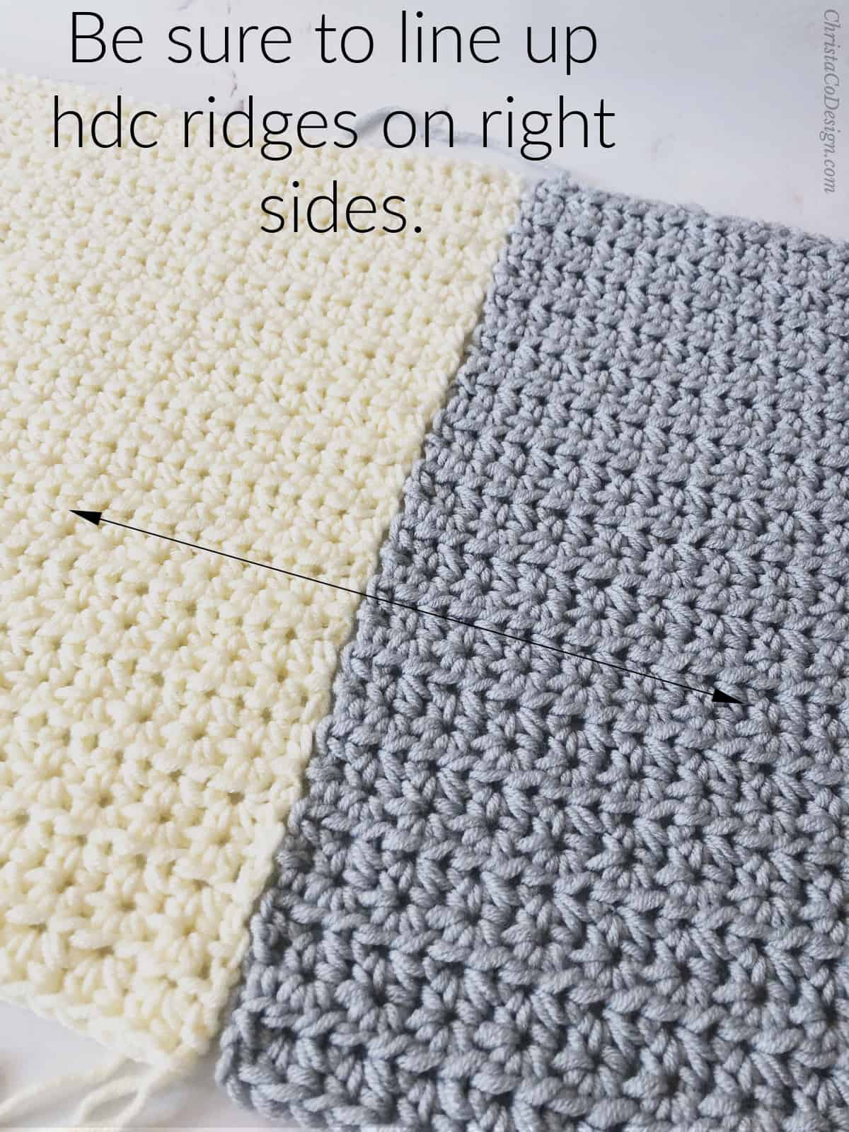 picture of blanket seaming squares