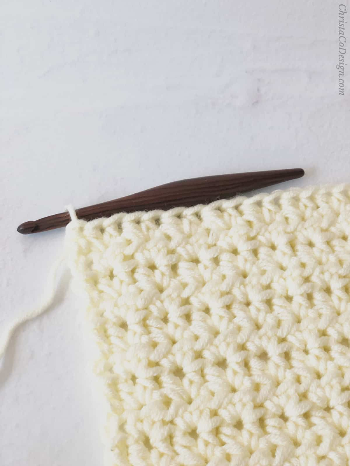 picture of how to crochet a chunky half double crochet blanket pattern free