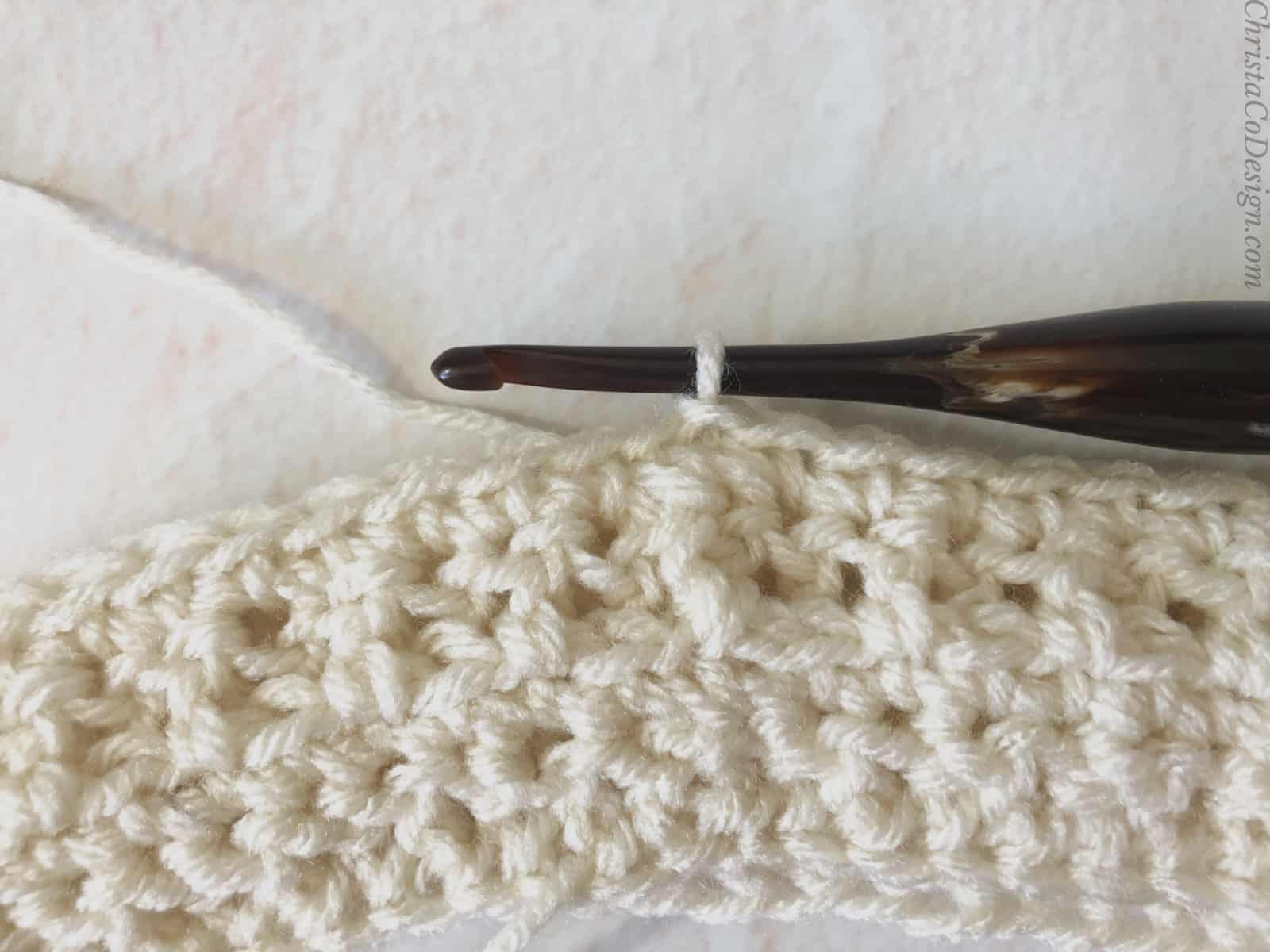 picture of single crochet row 4