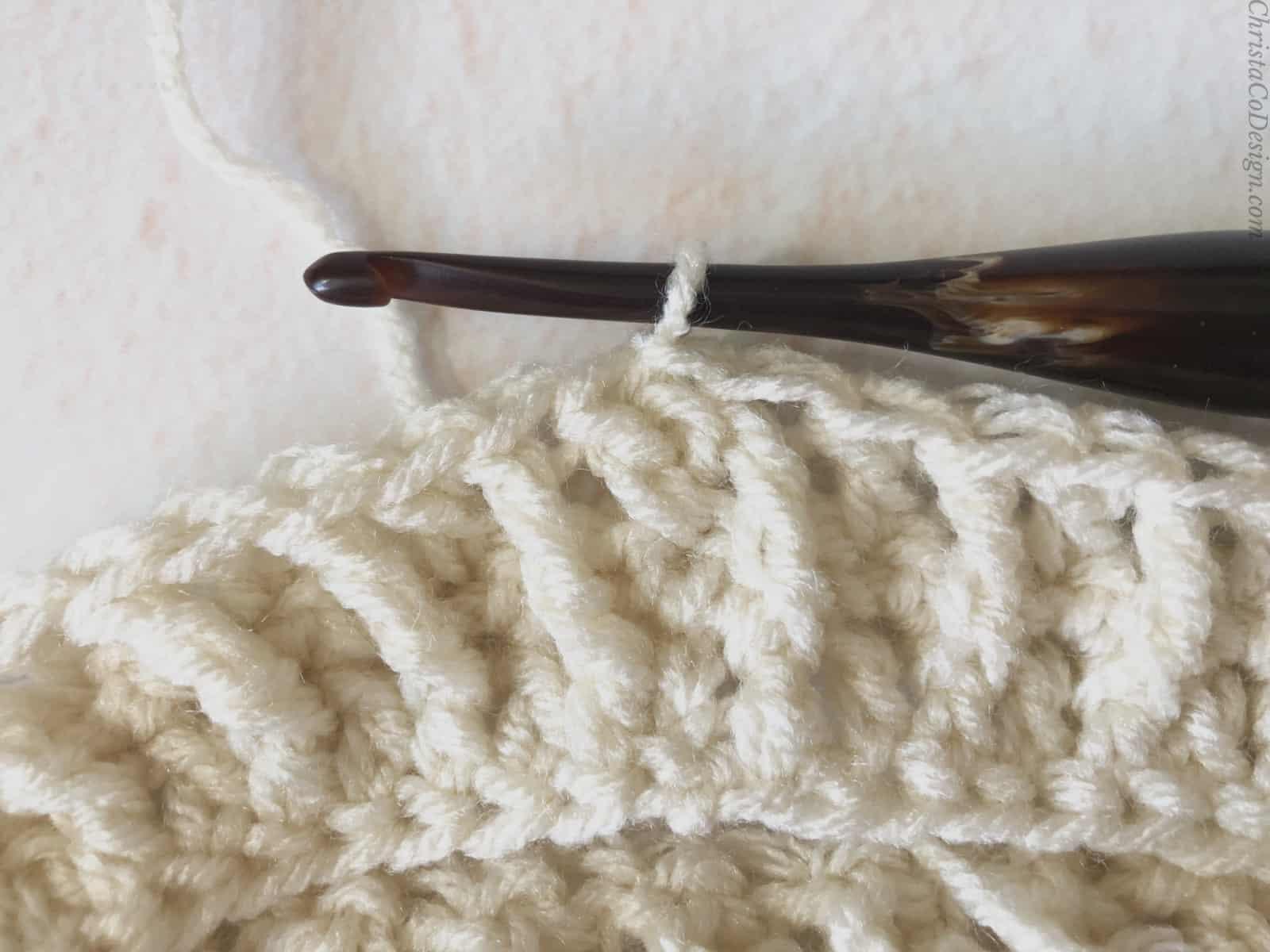 picture of row 3 earwarmer pattern crochet