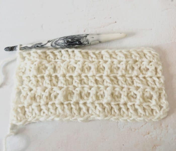 Back Loop Only Double Crochet Step by Step Tutorial