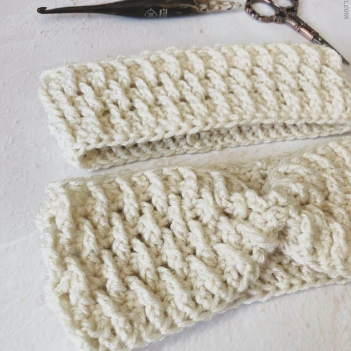 picture of child size and adult earmwarmer
