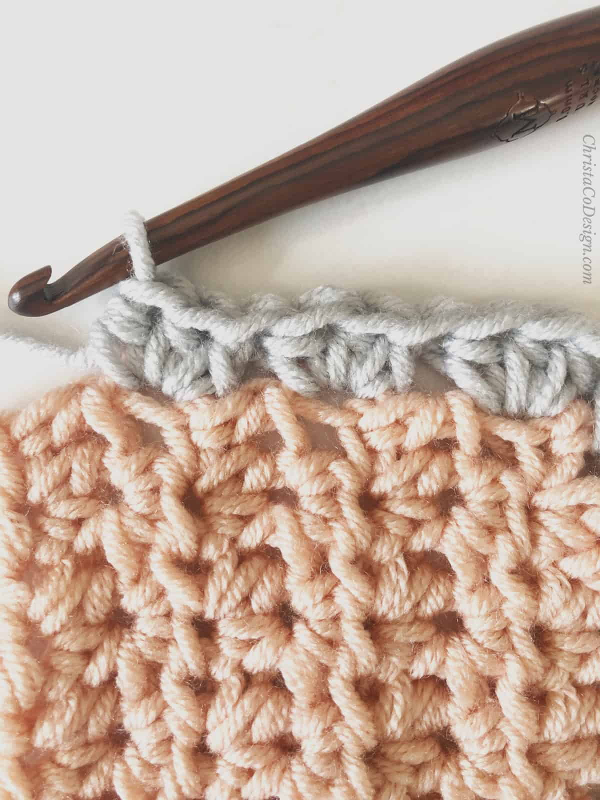 picture of hdc border crochet blanket