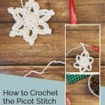 picture of how to crochet picot stitch