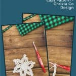 picture of crochet snowflake pattern pin