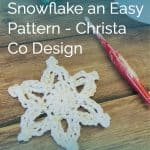 picture of snowflake white crochet