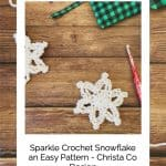 picture of crochet snowflake pattern free