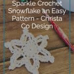 picture of crochet pattern snowflake pin