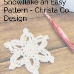 picture of snowflake pattern crochet pin