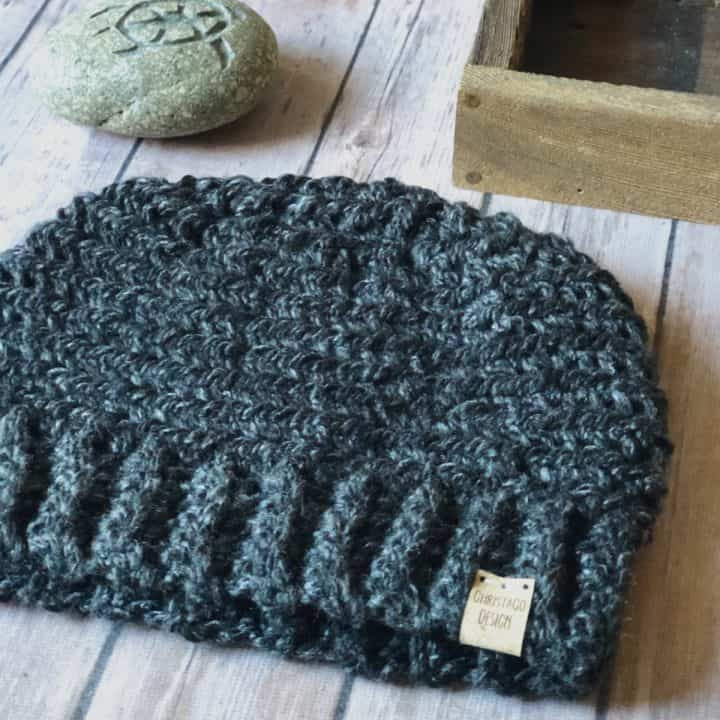 picture of men's crochet beanie pattern free