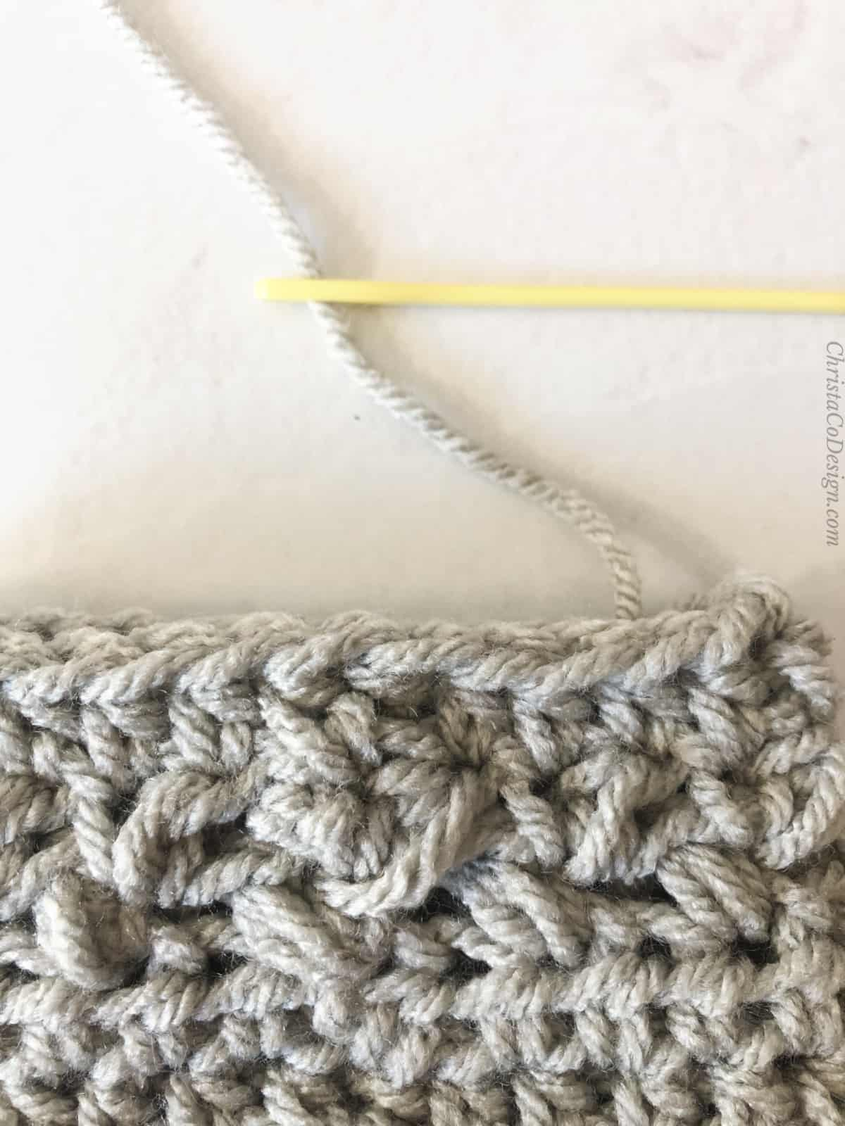 picture of crochet join without slip stitch