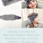 picture of mora ear warmer on with button