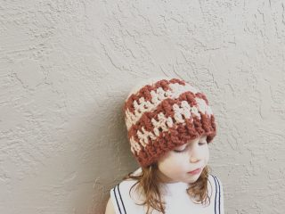 picture of crochet hat striped