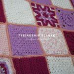 Pink and purple blanket squares crochet blanket pattern.