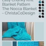 picture of chunky knit blanket pin image with text knitting pattern