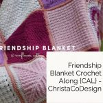 Friendship Blanket complete pink and purple squares.