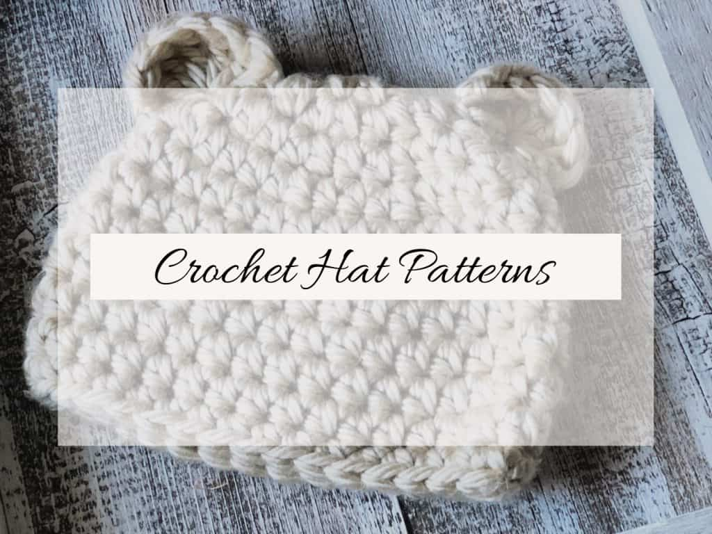 picture with text crochet hat patterns