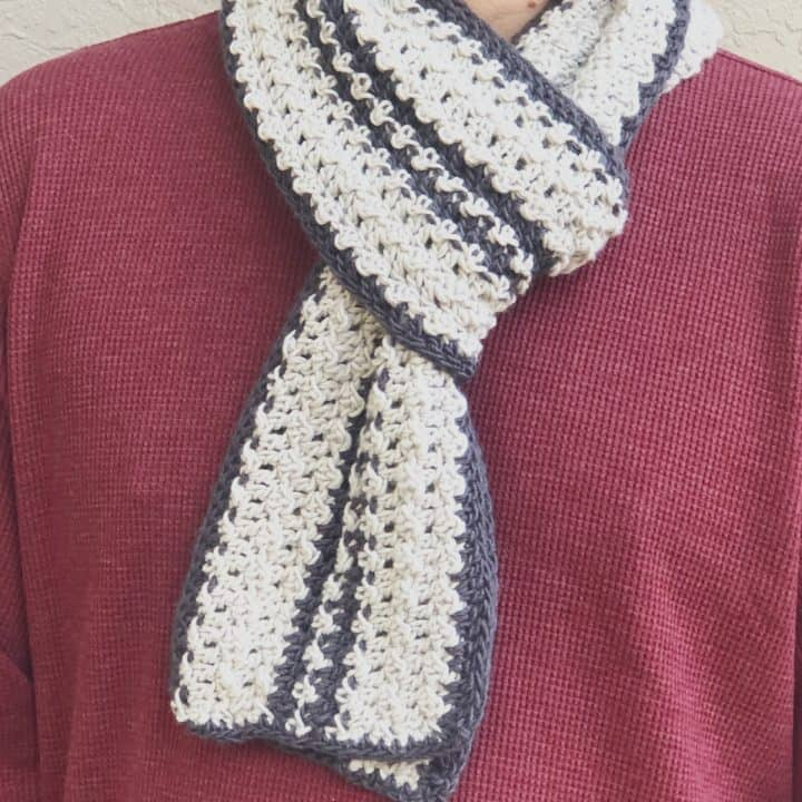 picture of mens scarf striped and texture