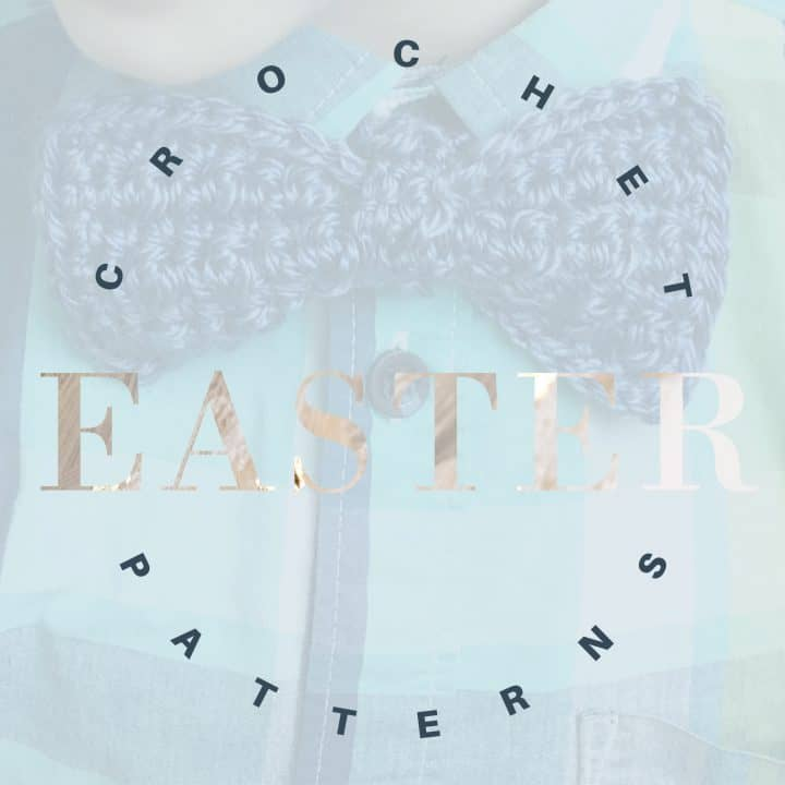 "Text ""crochet easter patterns"" on faded background."