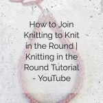 Pin image of knitting needles joined in circle with text.
