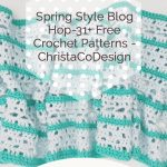 Green and. blue lacy shawl pin image with text.