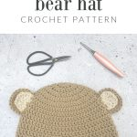 BEAR HAT IN BROWN.