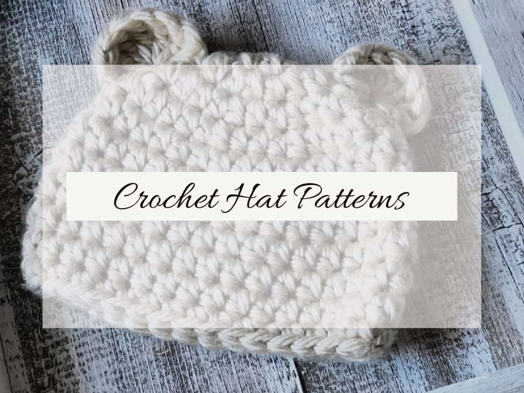 Crochet Hat with text overlay.