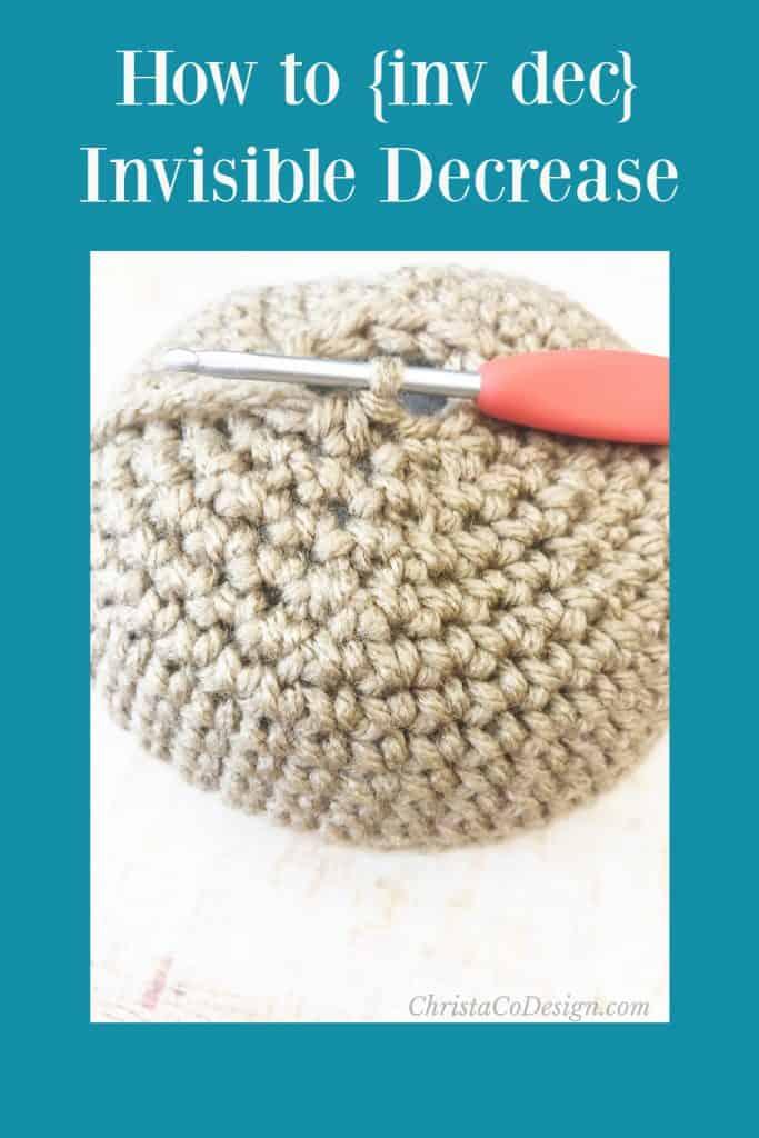 Inv dec shown on ball crochet pattern.