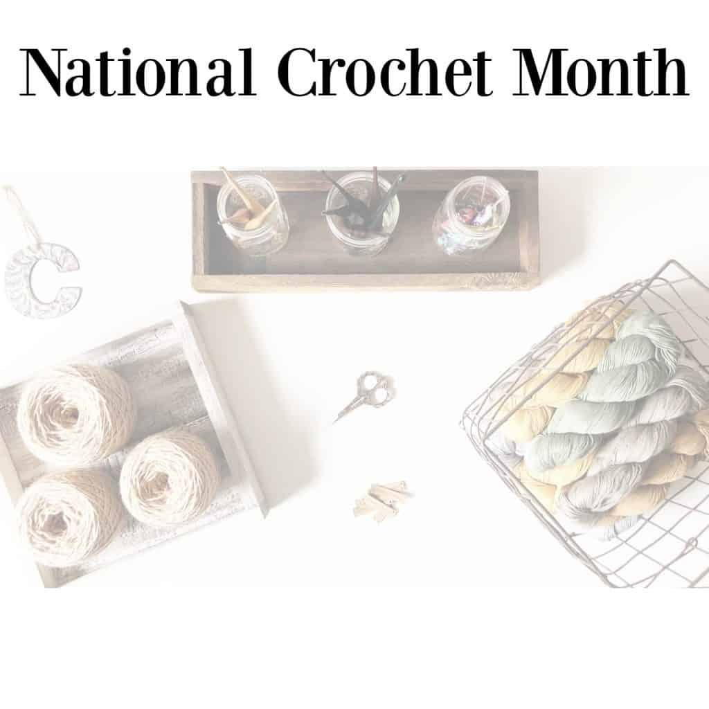 Yarn hooks and crochet tools on table.