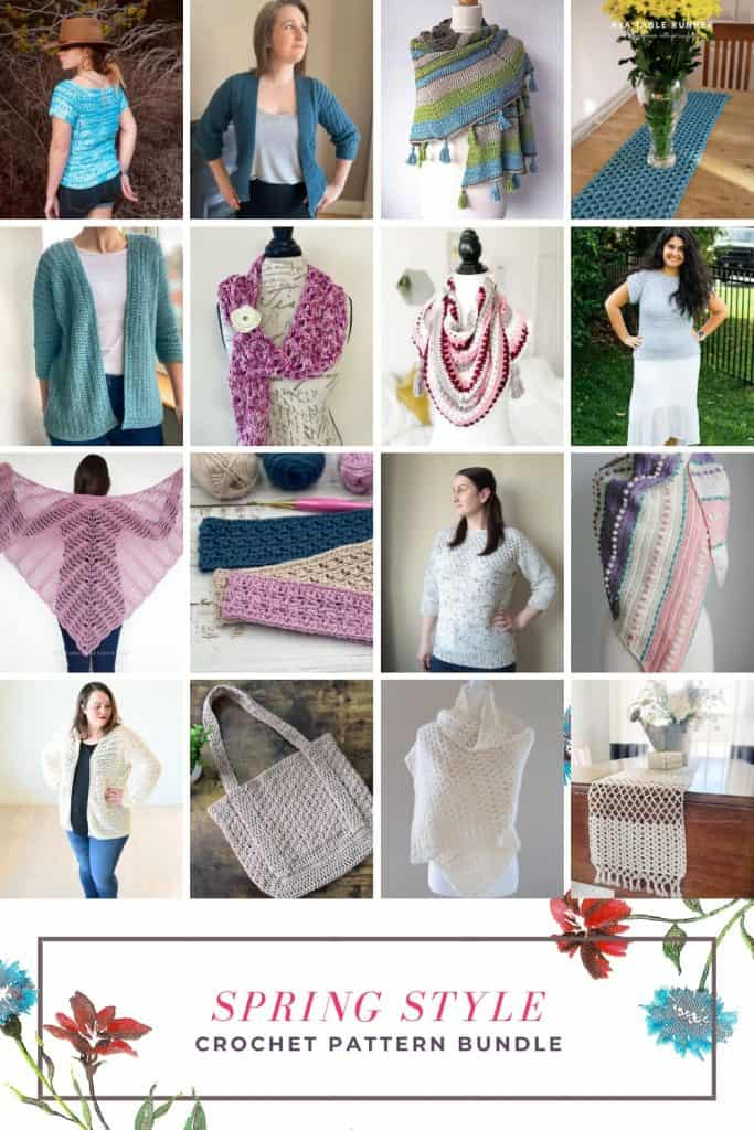 Collage of spring style patterns.