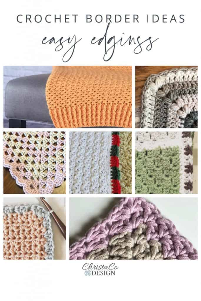 Pin image collage of blanket borders.