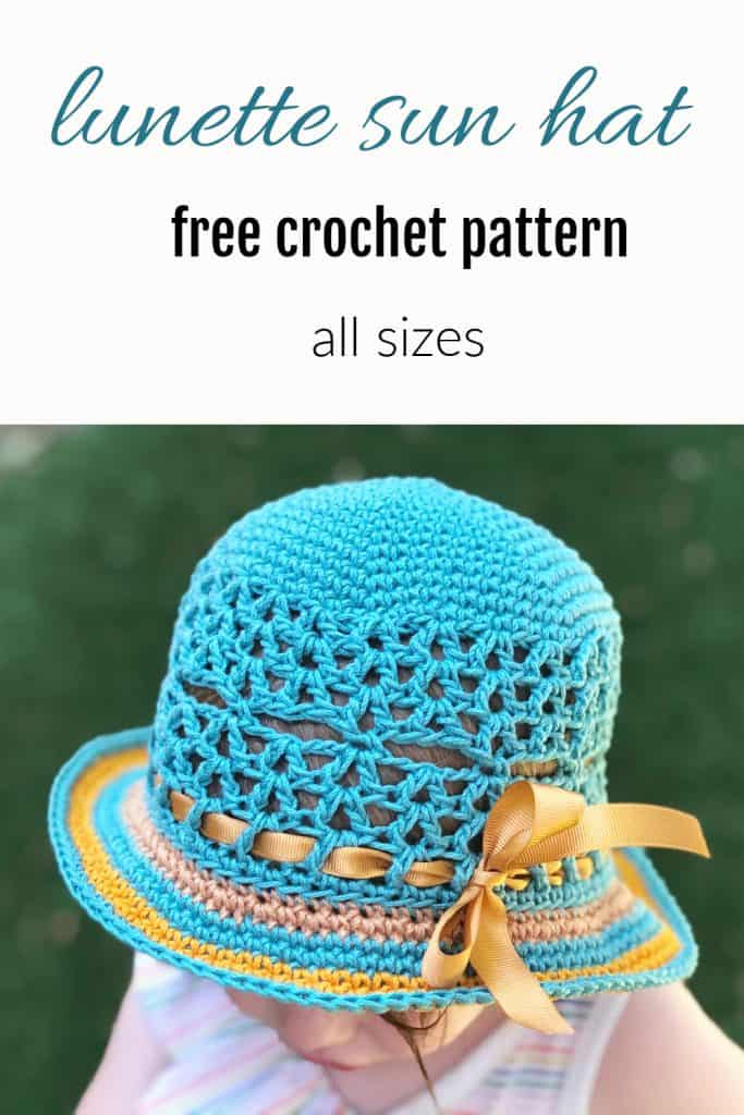 Pin image of sun hat with text.