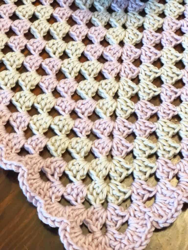 Granny square lovey blanket.