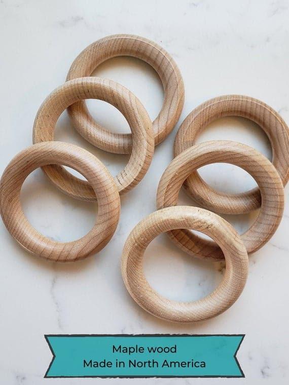 Maple WOOD TEETHING RING Wood Teether Made in North America   Etsy