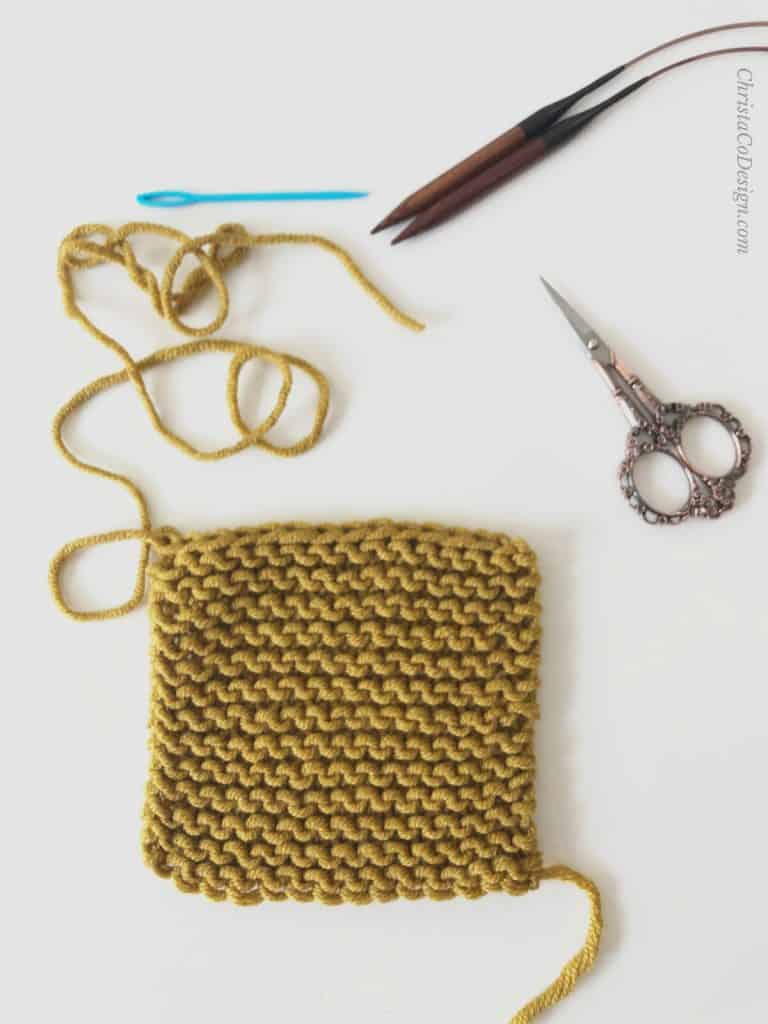 Knit bind off with scissors.