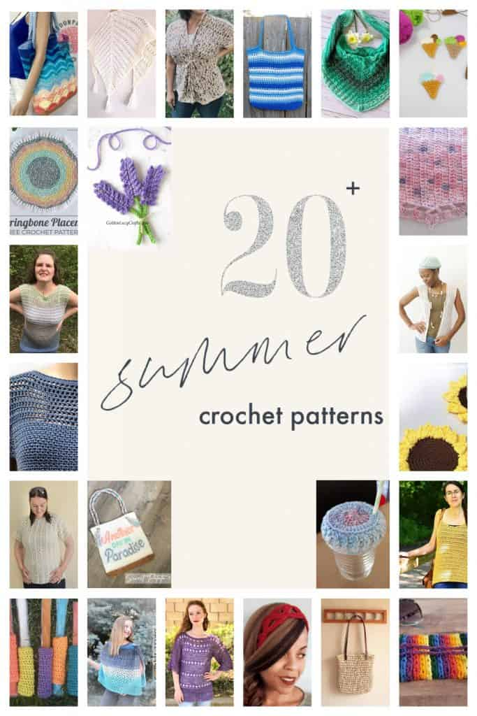 20 plus crochet patterns a round up collage.
