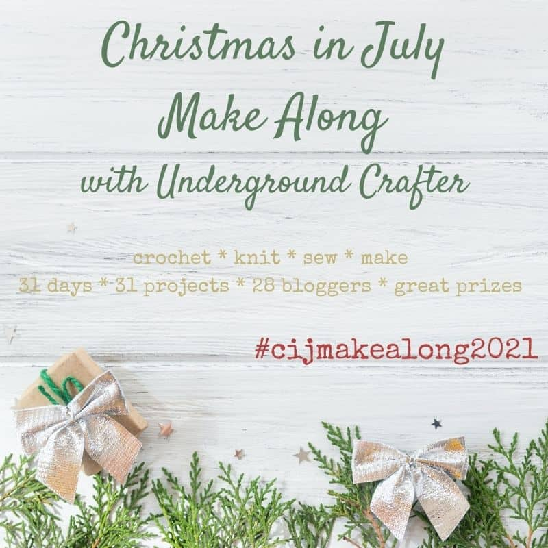Christmas in July Make Along graphic.