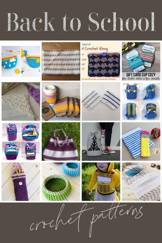 Pin image crochet teacher gifts and Back to School crochet patterns.