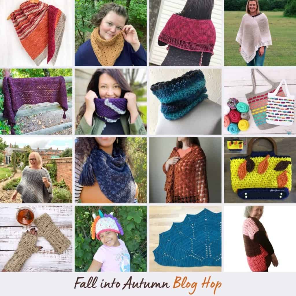 Collage of crochet patterns 1-16.